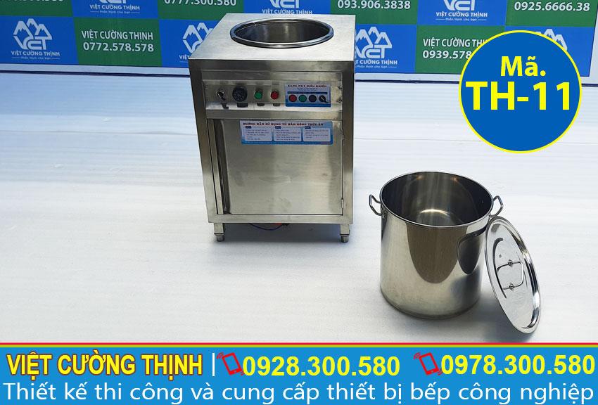 Tủ hâm nóng thức ăn 1 nồi, tủ hâm nóng canh 1 nồi, tủ giữ nóng canh 1 nồi sản xuất Inox Việt Cường Thịnh