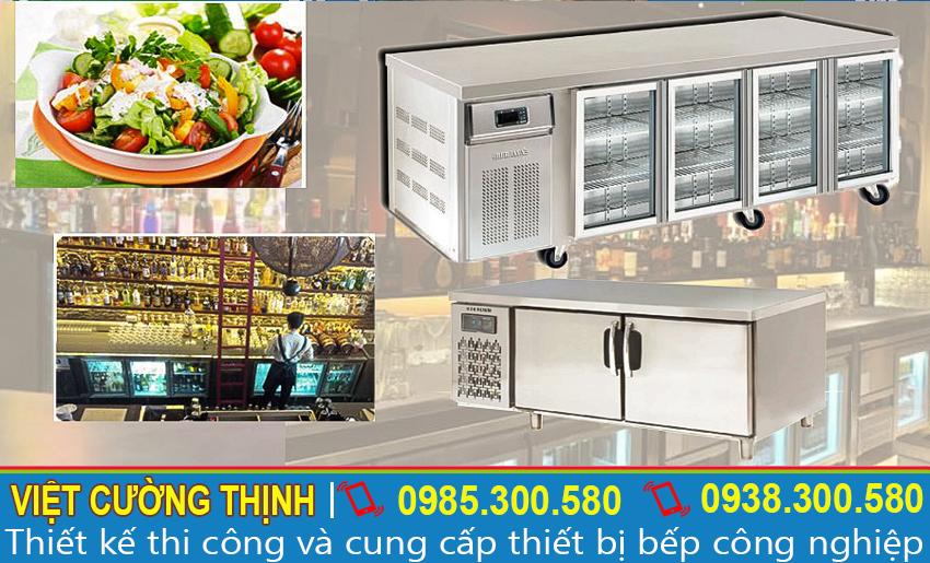 Mẫu bàn lạnh công nghiệp, bàn mát công nghiệp đa năng và tiện lợi