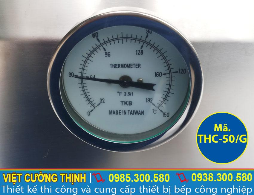 Đồng hồ thông báo Tủ nấu cơm công nghiệp, Tủ nấu cơm 50kg bằng gas sản xuất Việt Cường Thịnh.