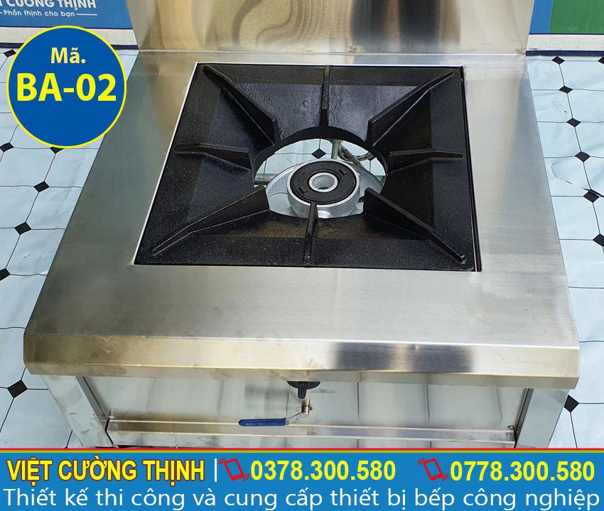 Bếp hầm đơn sản xuất bằng inox 304, có độ bền cao và chịu nhiệt tốt.