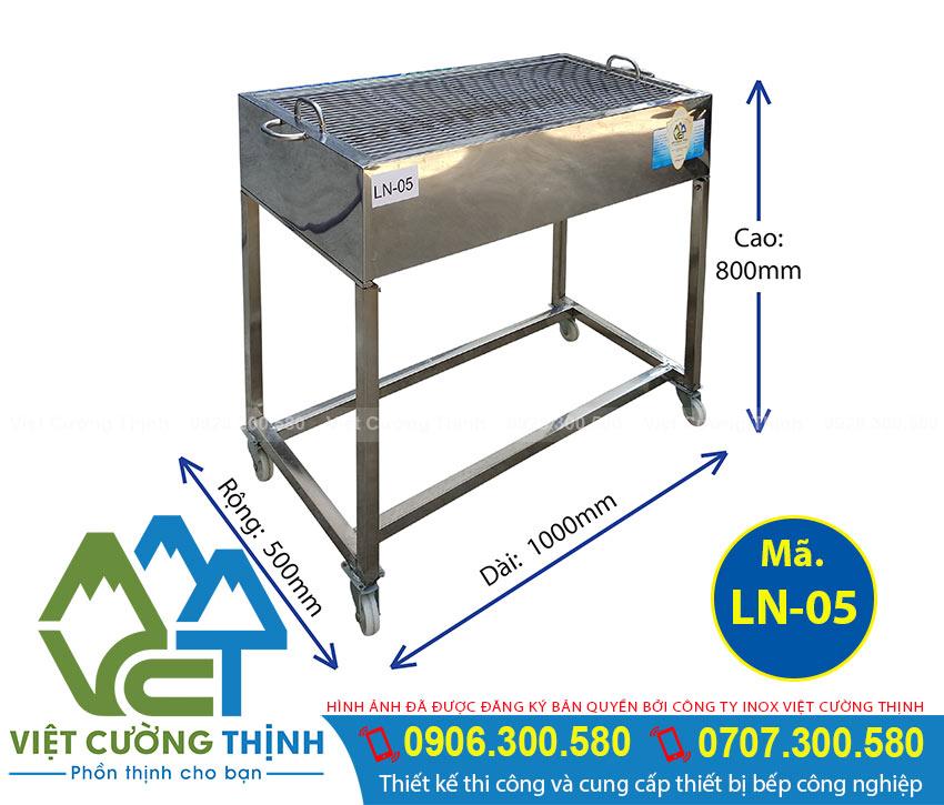 Bếp nướng inox công nghiệp LN-05