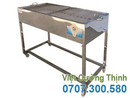 Bếp nướng thịt bán cơm tấm bằng inox LN-07