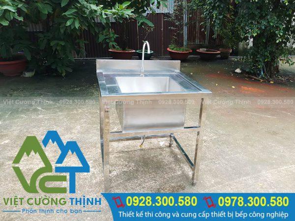 Việt Cường Thịnh nhận gia công kích thước chậu rửa bát đơn theo yêu cầu.