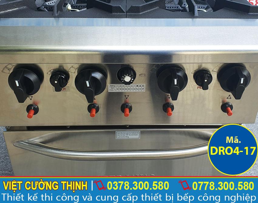 Công tắt điều khiển bếp âu công nghiệp, bếp ga công nghiệp 4 họng.