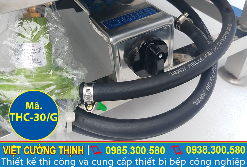 Hệ thống dẫn gas Tủ nấu cơm công nghiệp, Tủ hấp cơm 30kg bằng gas cao cấp và an toàn