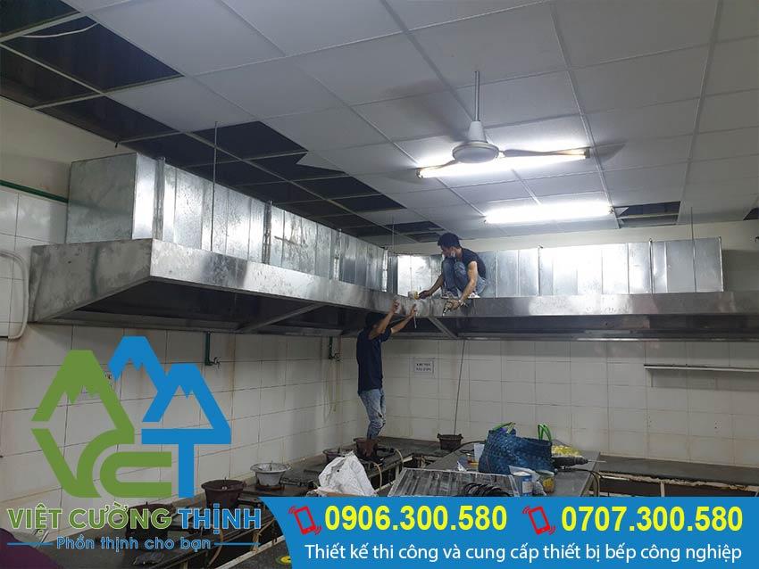 thi công lắp đặt hệ thống hút khói công nghiệp, bếp nhà hàng khách sạn - Việt Cường Thịnh