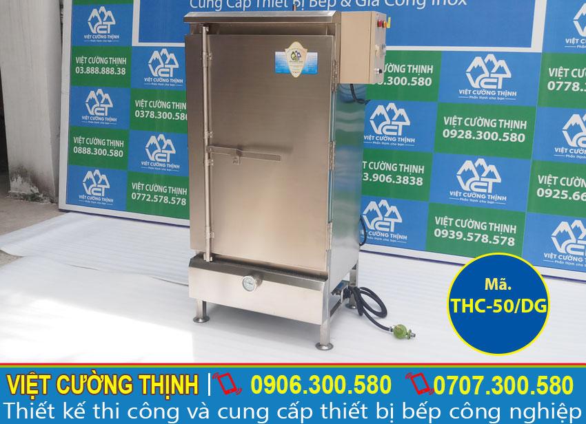 Tủ nấu cơm bằng điện và gas, quầy nấu cơm bằng điện và gas , tủ nấu cơm công nghiệp sản xuất Việt Cường Thịnh.