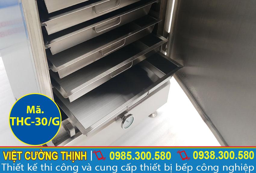 Cấu tạo vượt trội của tủ nấu cơm công nghiệp, Tủ nấu cơm 30 kg bằng gas inox 304 cao cấp và tiện dụng.
