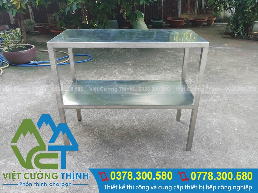 Mua kệ inox 2 tầng loại phẳng chất lượng, giá tốt tại Việt Cường Thịnh.