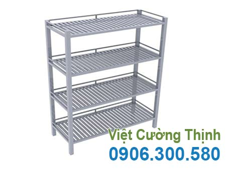 Kệ inox thanh 4 tầng.
