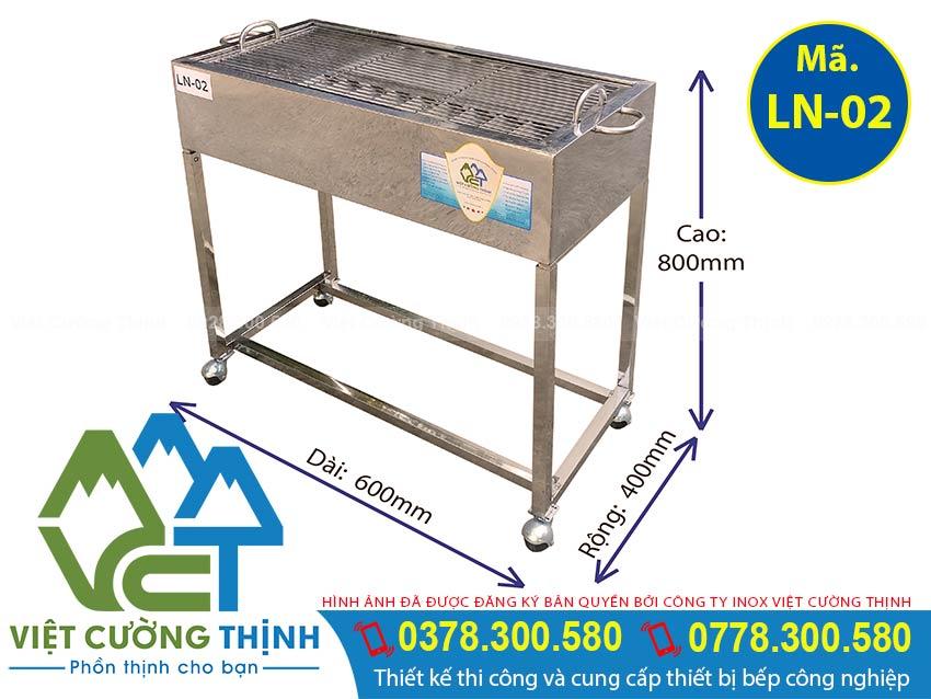 Lò nướng than inox LN-02, bếp nướng than inox 304, thiết kế lò nướng ngoài trời, khay nướng than hoa inox , bếp nướng than inox