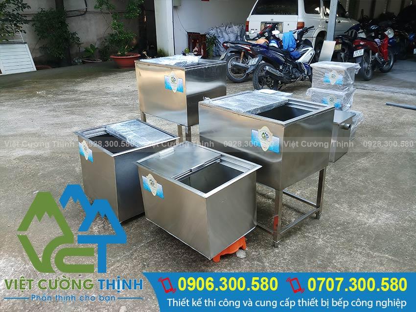 Việt Cường Thịnh nhận sản xuất thùng đựng đá inox, thùng đá inox quầy bar theo yêu cầu