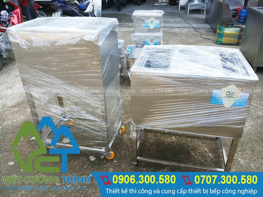 Sản phẩm thùng đá inox, thùng đựng đá của Việt Cường Thịnh chuẩn bị giao đến cho khách hàng