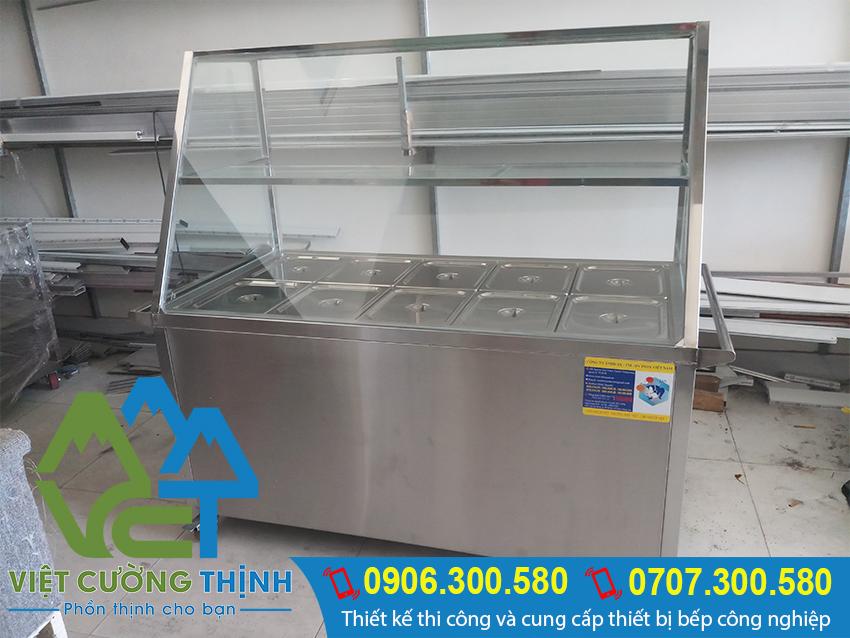 Tủ hâm nóng thức ăn 10 khay, tủ giữ nóng thức ăn cao cấp.