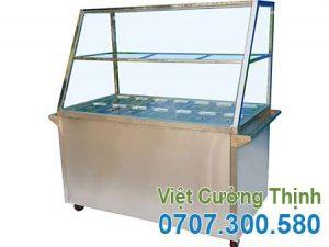 Báo giá tủ hâm nóng thức ăn 14 khay, tủ trưng bày hâm nóng thức ăn 14 khay giá tốt tại VCT (Ảnh thật tế).