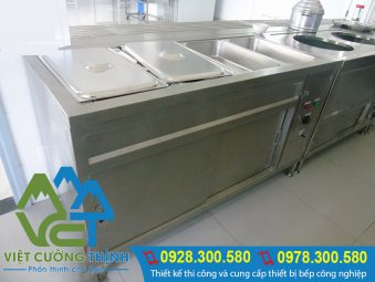 Tủ giữ nóng thức ăn 5 khay cao cấp của Việt Cường Thịnh.