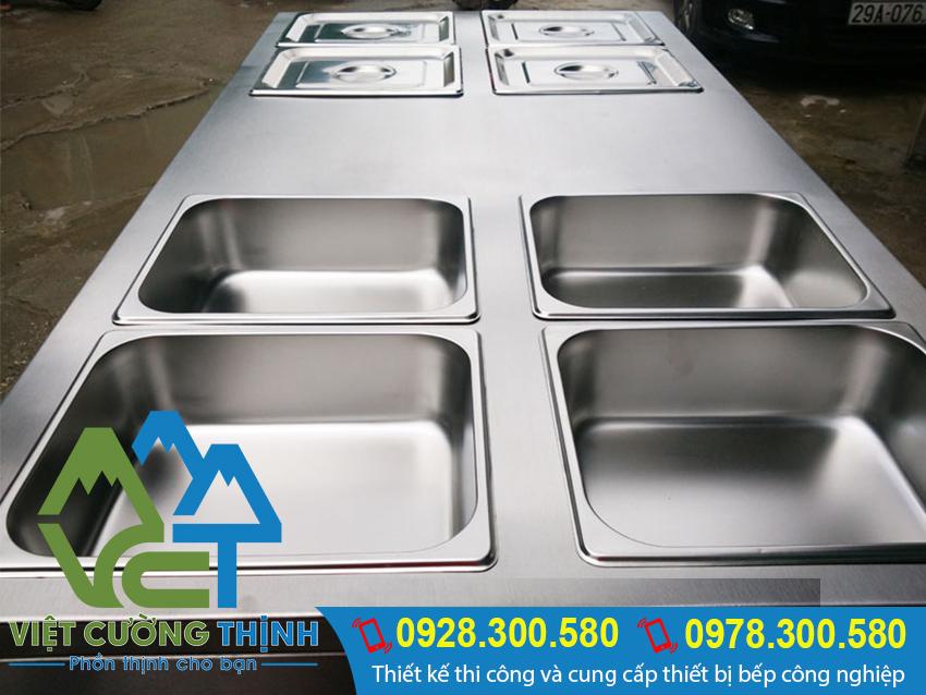 Tủ hâm nóng thức ăn, tủ giữ nóng thực phẩm được gia công từ inox cao cấp nhập khẩu 304.