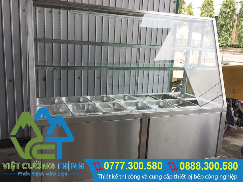 Tủ haam nóng thức ăn 14 khay, với thiết kế thông minh, chất liệu inox cao cấp nhập khẩu.