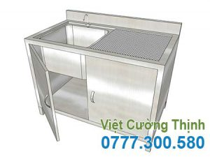 Tủ inox có 1 bồn rửa -TU19004.