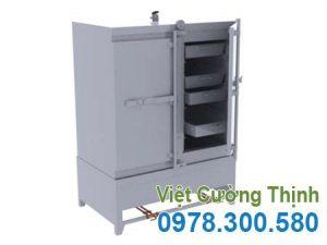 Tủ nấu cơm công nghiệp 100kg bằng gas.