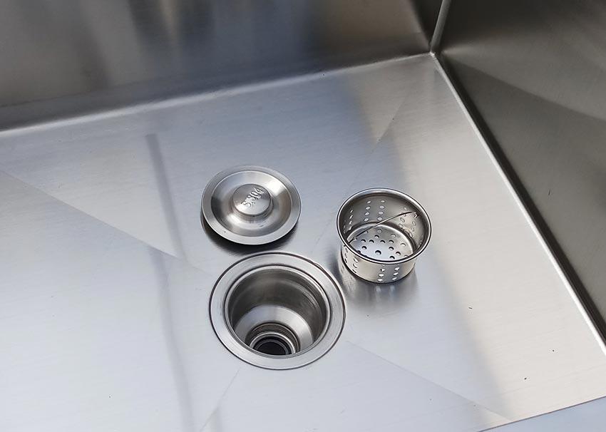 Xi phông chậu rửa công nghiệp 2 ngăn có kệ dưới, bồn rửa chén inox công nghiệp | bồn rửa tay công nghiệp