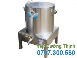 Nồi nấu phở bằng điện 50L, Nồi hầm xương bằng điện, nồi nấu nước lèo hũ tiếu 50l sản xuất Inox Việt Cường Thịnh.