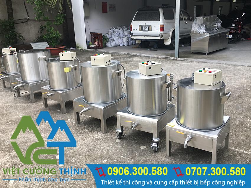 Nồi nấu cháo bằng điện, Nồi hầm cháo dinh dưỡng bằng điện, Nồi nấu cháo công nghiệp sản xuất Inox Việt Cường Thịnh.