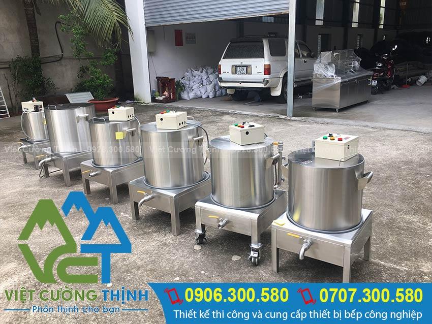 nồi nấu phở bằng điện 50 lit, 60 lit, 70 lit, 80 lit, 90 lit, 100 lit, 120 lit, 150 lit, 200 lit – Inox Việt Cường Thịnh