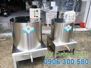 Bộ Nồi hầm xương bằng điện, nồi nấu nước lèo bằng điện,nồi nấu phở bằng điện sản xuất Việt Cường Thịnh
