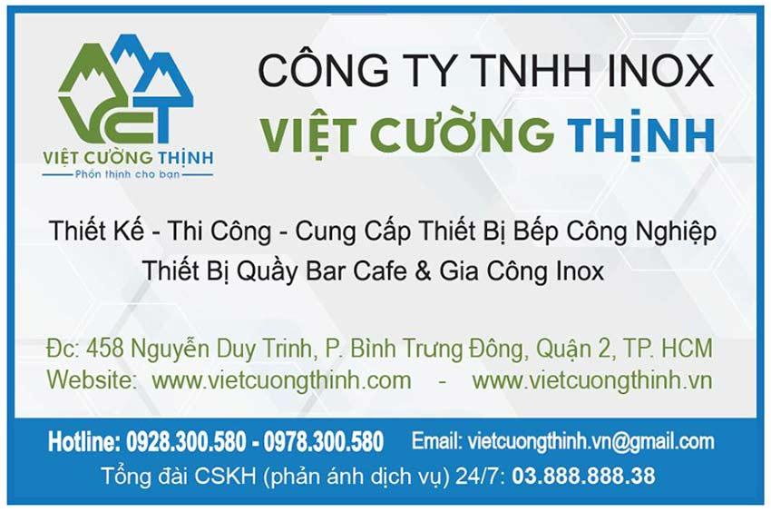 thiết bị bếp inox Việt Cường Thịnh