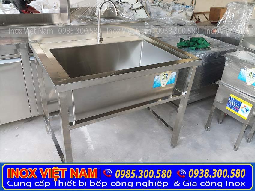 Bồn rửa chén inox 1 ngăn lớn