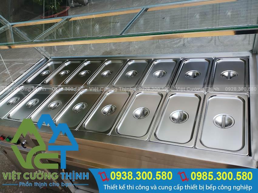 Tủ hâm nóng thức ăn 16 khay bằng điện tại Inox Việt Cường Thịnh
