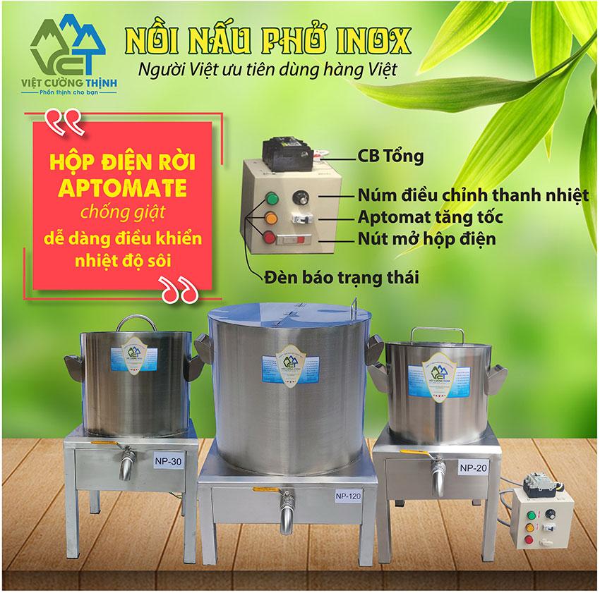 Giá nồi điện nấu phở của Inox Việt Cường Thịnh