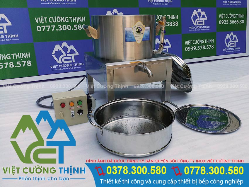Báo giá nồi hấp bánh bao bằng điện, xửng hấp bánh bao bằng điện. Bộ nồi hấp bánh bằng điện chất liệu inox 304 cao cấp.