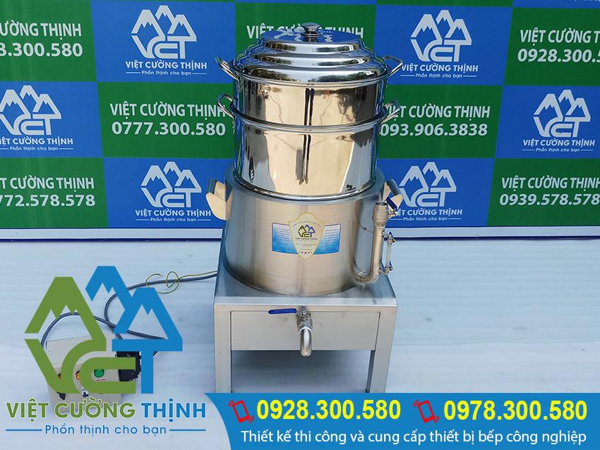 Nồi hấp cơm tấm bằng điện 2 tầng NHCT-D400-2T( Ảnh thật tế).