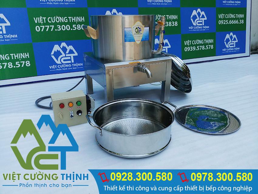 Việt Cường Thịnh - Địa chỉ mua nồi hấp cơm tấm bằng điện, nồi hấp cơm công nghiệp, xửng hấp cơm bằng điện uy tín chất lượng tại TPHCM (Ảnh thật tế).