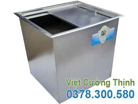 Thùng đá inox âm bàn, thùng giữ lạnh inox, thùng chứa đá inox âm bàn quầy bar sản xuất Inox Việt Cường Thịnh.