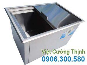 Thùng đá inox, thùng giữ đá inox, thiết bị giữ đá inox sản xuất Inox Việt Cường Thịnh.