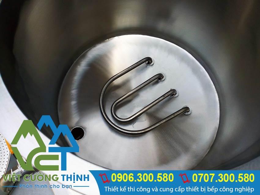 Thanh nhiệt nồi hấp điện công nghiệp, nồi hấp công nghiệp bằng điện. Giúp hấp chính thức ăn nhanh hơn, giữ nhiệt lâu.