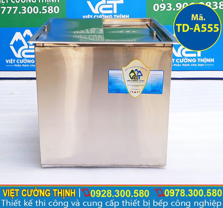 Thùng đá inox, thùng chứa đá inox 304 cao cấp, có độ bền cao, đa năng và tiện dụng sản xuất Việt Cường Thịnh.