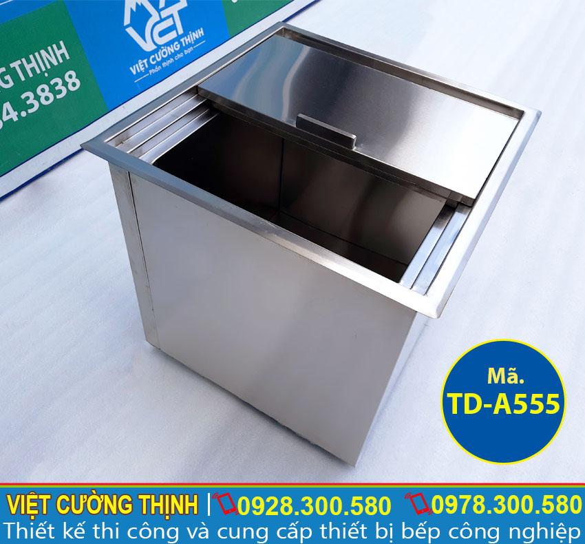 Báo giá thùng đá inox, thùng chứa đá inox âm bàn , thùng đựng đá inox âm bàn quầy bar tại TPHCM.