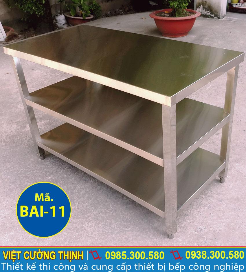 Bàn inox xếp | bàn inox 304 | bàn bếp inox | bàn inox sản xuất Việt Cường Thịnh.