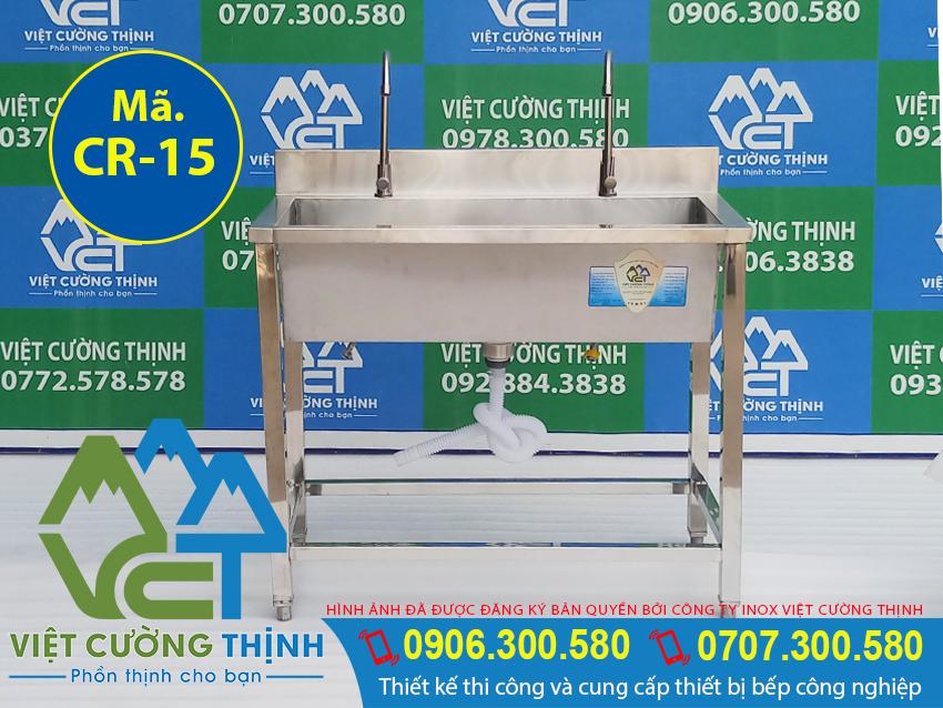 Việt Cường Thịnh - Địa chỉ mua máng rửa tay inox công nghiệp 1m, chậu rửa công nghiệp gia tốt tại TPHCM (Ảnh thật tế).