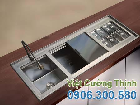 Thùng đá inox quầy bar | Thùng chứa đá quầy bar inox 304 | Thùng đựng đá inox âm sàn quầy bar | Báo giá thùng đá inox HCM.