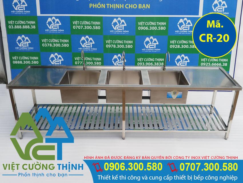 Mua ngay chậu rửa inox, bồn rửa chén inox 1 ngăn có chân, chậu rửa công nghiệp giá tốt tại Việt Cường Thịnh.