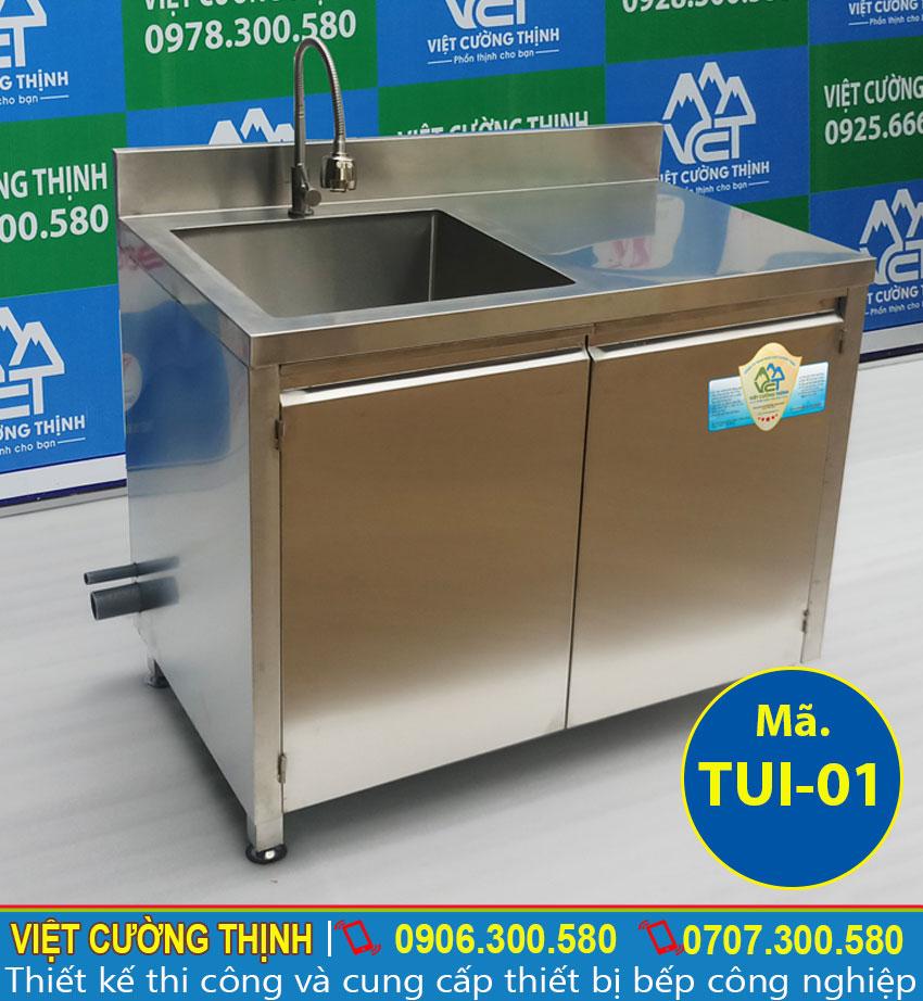 Báo giá tủ bếp inox, tủ đựng chén bát inox 304, tủ inox có bồn rửa tại Việt Cường Thịnh.