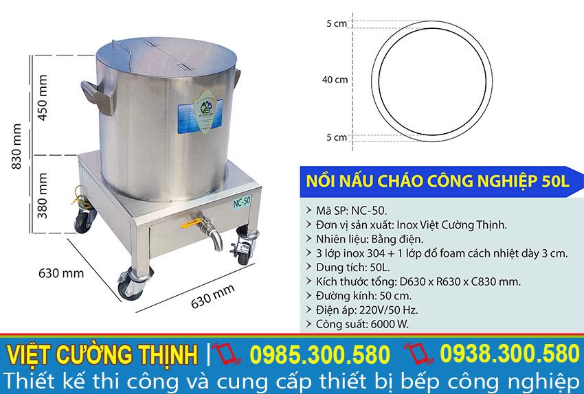 Nồi nấu cháo bằng điện, Nồi hầm cháo bằng điện uy tín chất lượng sản xuất Inox Việt Cường Thịnh