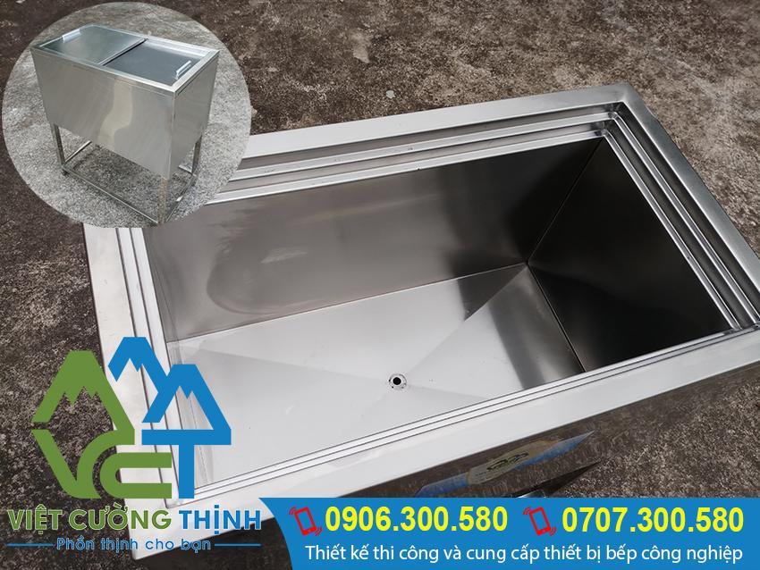 báo giá thùng đá inox | thùng đá giữ lạnh | thùng chứa đá âm bàn | thùng giữ đá | tủ đá inox quầy bar | hộp đựng đá lạnh