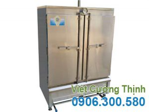 Mẫu tủ nấu cơm bằng gas 100 kg, Tủ hấp cơm bằng gas 100 kg sản xuất Việt Cường Thịnh.