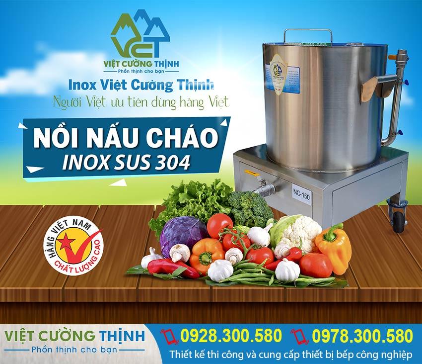 báo giá nồi nấu cháo bằng điện, nồi hầm cháo dinh dưỡng, nồi điện hầm xương sản xuất Inox Việt Cường Thịnh.